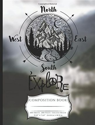 Explore The Outdoors Compass Composition Book
