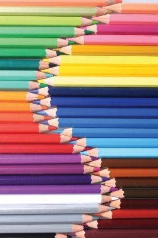 Rainbow of Colored Pencils Journal