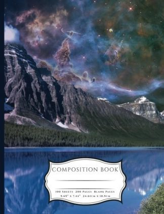 Dusk and Starry Skies Over The Moutains Composition Book