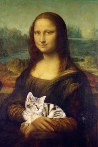 Cat People are Happy People Mona Lisa with Cat Journal
