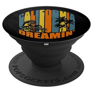 California Dreamin' Vintage Retro Style Sun and Surf - PopSockets Grip