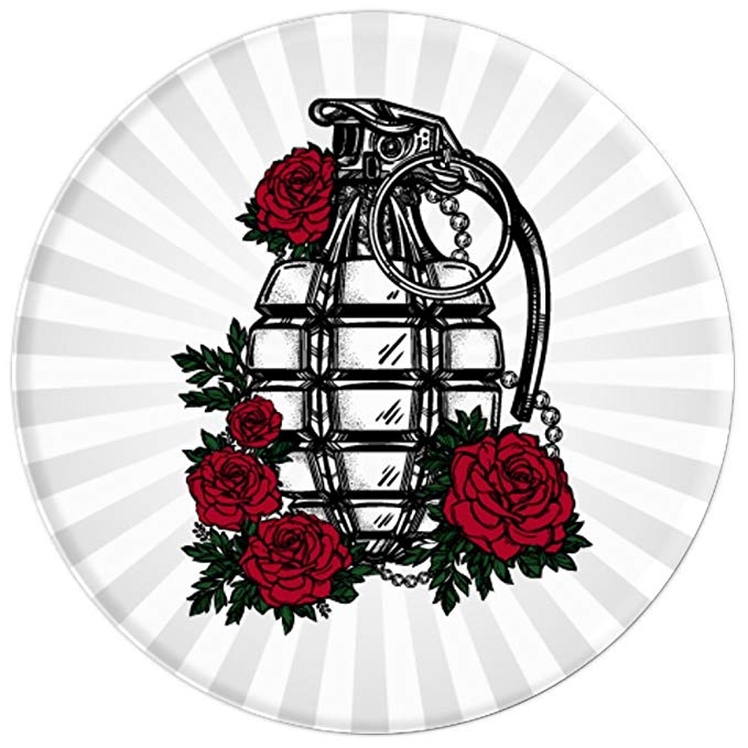 Grenade and Roses - Vintage Pineapple Hand Grenade - PopSockets Grip and  Stand for Phones and Tablets • Cosmic Frogs Vinyl