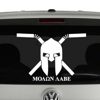 Molon Labe Come and Take Our Straws Protest Vinyl Decal Sticker