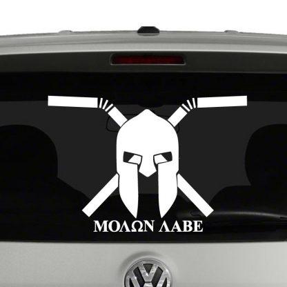 Molon Labe Come and Take Our Straws Protest Vinyl Decal Sticker