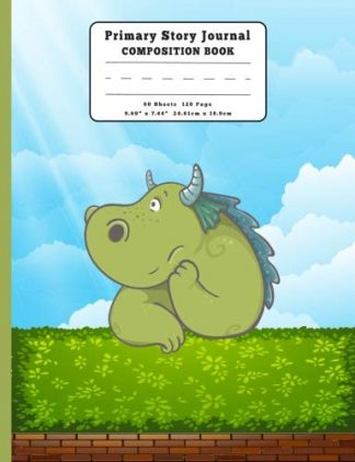 Thoughtful Little Dragon Primary Story Journal Composition Book