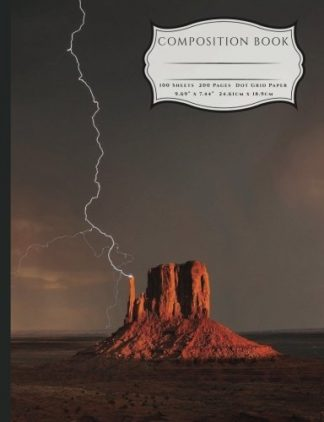 Grande Canyon Buttes Thuderstorm and Lighting Composition Book