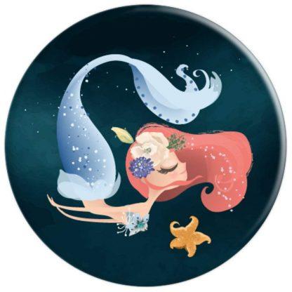Blue Mermaid Swimming with Starfish - PopSockets Grip