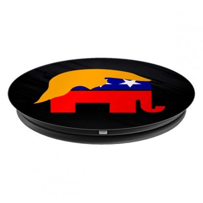 GOP Republican Elephant with Trump Hair Piece Funny - PopSockets Grip