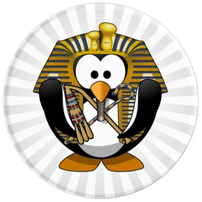 Penguin with Egyptian Headdress Crook and Flail - PopSockets Grip