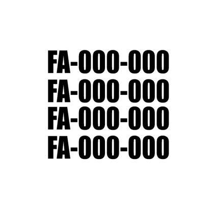 Drone Registration Number Vinyl Decal Sticker FAA UAS Compliant