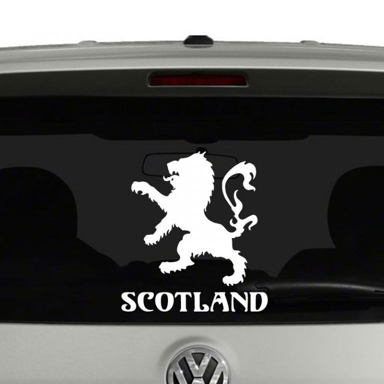 Scotland Lion Rampant Emblem Coat of Arms Vinyl Decal Sticker