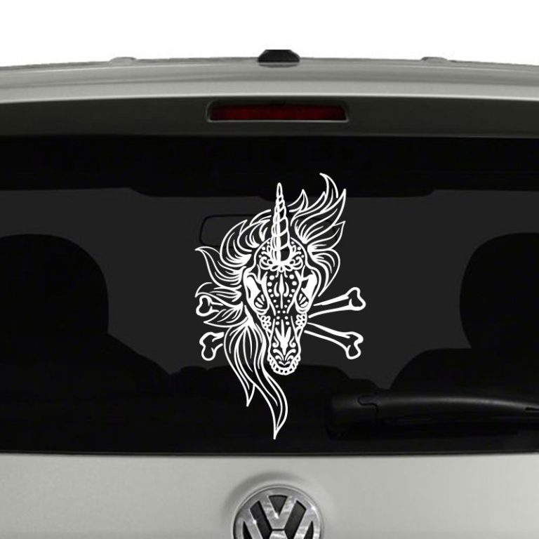 Unicorn Sugar Skull Day of the Dead Vinyl Decal Sticker