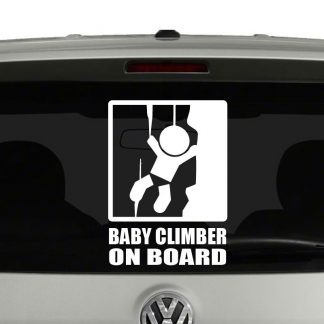 Baby Climber On Board Baby On Board Vinyl Decal Sticker