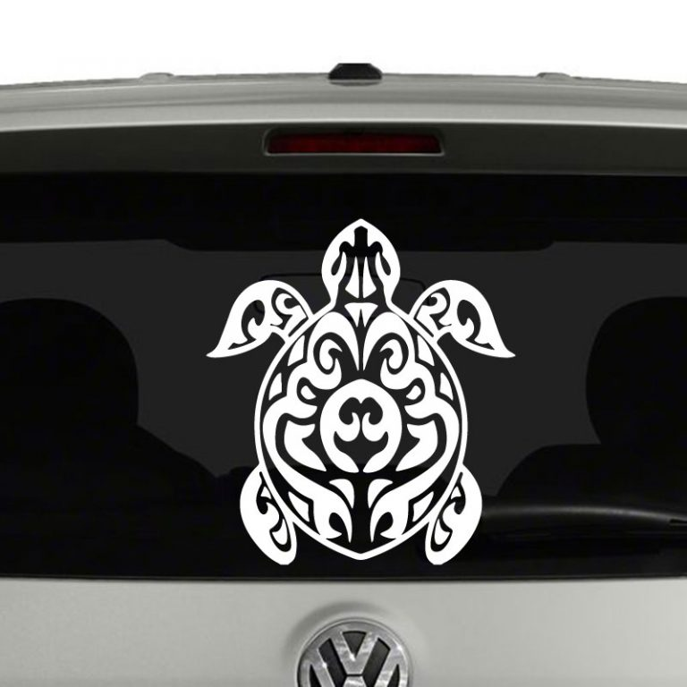 Turtle Tribal Hawaiian Vinyl Decal Sticker