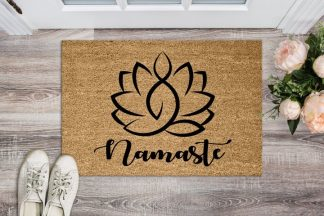 Namaste Lotus Flower Meditation Floor Welcome Mat