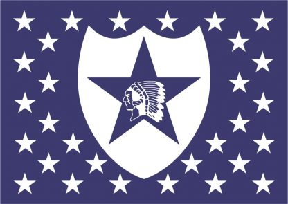 Wooden Rustic American Flag 2nd Infantry