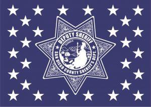 Wood Flag San Diego Sheriffs