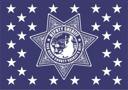 Wood Flag San Diego Sheriffs