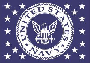 Wooden Rustic American Flag Navy