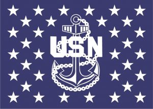 wood flag navy chief anchor