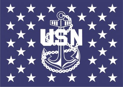 wood flag navy chief anchor