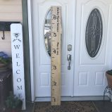 Wooden Growth Chart Giant Ruler Customized