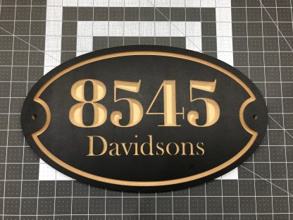 Carved Wooden Address Sign