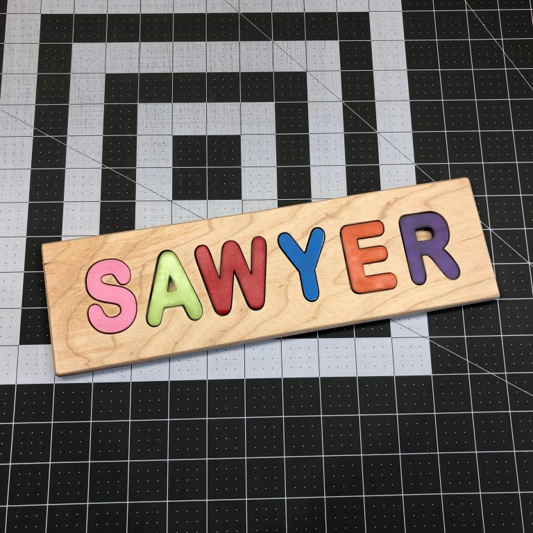 Child's Custom Personalized Wooden Carved Name Puzzle