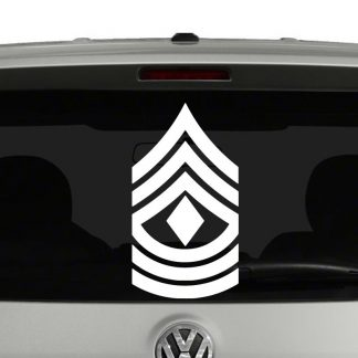 Marine Corp Rank Insignia First Sergeant E8 Vinyl Decal Sticker