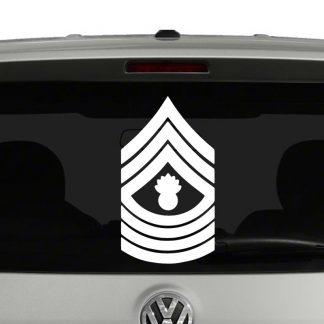 Marine Corp Rank Insignia Master Gunnery Sergeant E9 Vinyl Decal Sticker