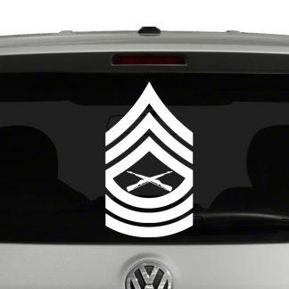 Marine Corp Rank Insignia Master Sergeant E8 Vinyl Decal Sticker