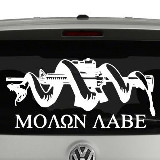 Molon Labe Snake AR15 Patriotic Vinyl Decal Sticker