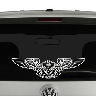 Navy Enlisted Aviation Warfare Specialist Wings Vinyl Decal Sticker