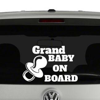 Grand Baby on Board Baby on Board Vinyl Decal Sticker