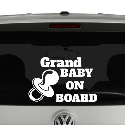 Grand Baby on Board Baby on Board Vinyl Decal Sticker