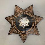 Wooden Sheriffs Badge