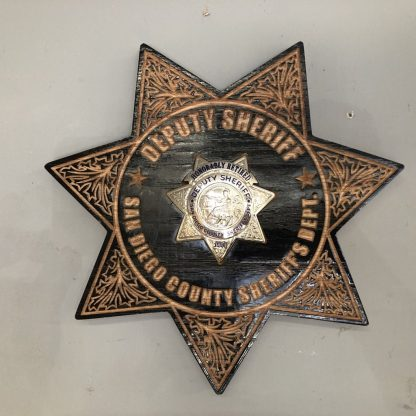 Wooden Sheriffs Badge