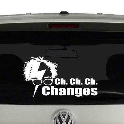 Bernie Changes David Bowie Parody Political Vinyl Decal Sticker