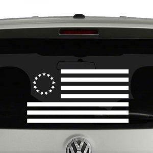 Betsy Ross American Flag 1777-1795 Vinyl Decal Sticker
