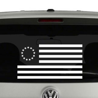 Betsy Ross American Flag 1777-1795 Vinyl Decal Sticker
