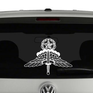 Military Master Freefall Parachutist Badge Vinyl Decal Sticker