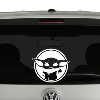 Baby Yoda Star Wars Inspired Mandalorian Car Sticker Truck Window Vinyl Decal