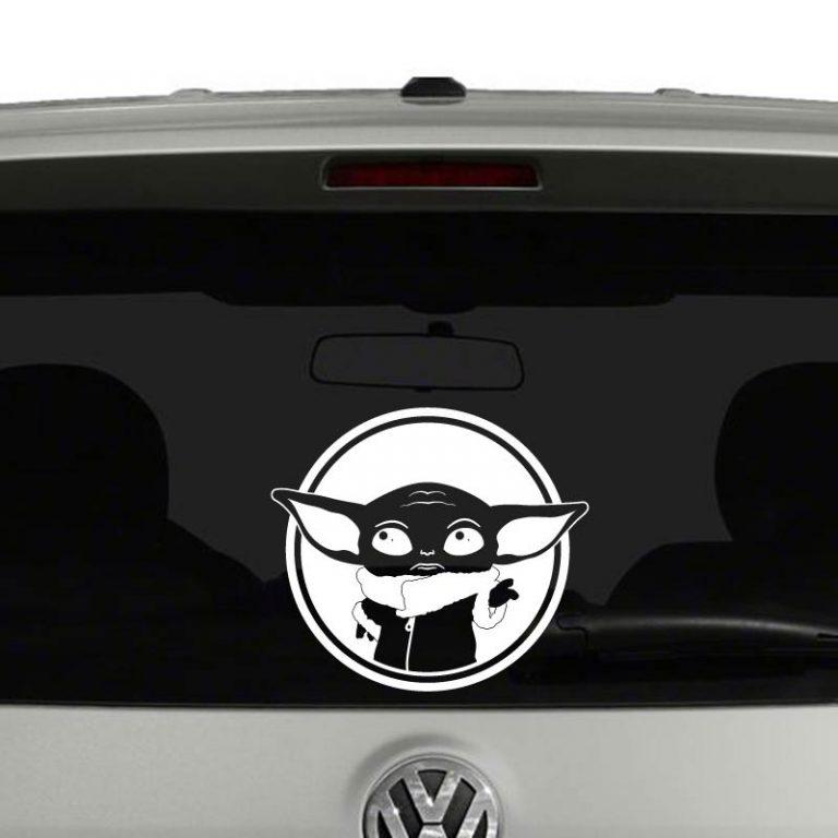 Baby Yoda Star Wars Inspired Mandalorian Car Sticker Truck Window Vinyl Decal