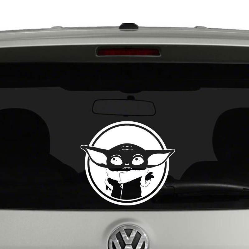 Baby Yoda Star Wars Inspired Mandalorian Car Sticker Vinyl Decal