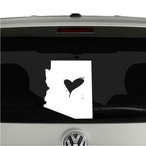 Love Arizona State Heart Vinyl Decal Sticker
