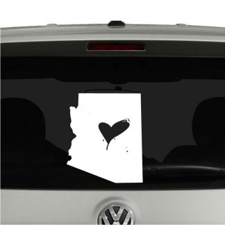 Love Arizona State Heart Vinyl Decal Sticker