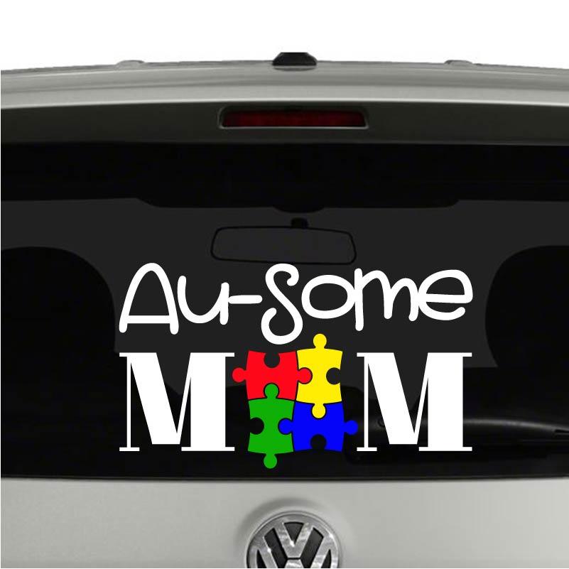 Autism Awareness Ribbon Vinyl Sticker