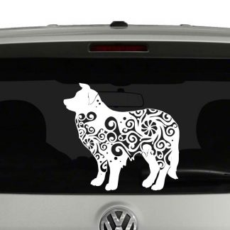 Border Collie Lovers Mandala Puppy Vinyl Decal Sticker
