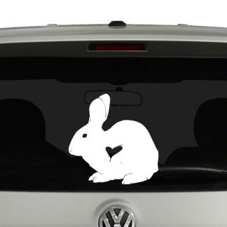 Bunny Rabbit Lovers Rabbit Heart Vinyl Decal Sticker