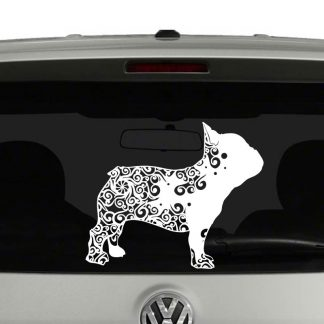 French Bulldog Lovers Mandala Puppy Vinyl Decal Sticker